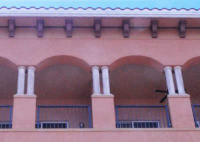 1920-Columns 2, cropped,Renaissance on the River - dup pic in shutters & corbels