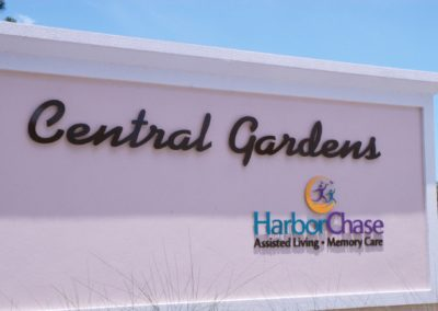 1920-Signage 1, close up, HarborChase Central Gardens ALF